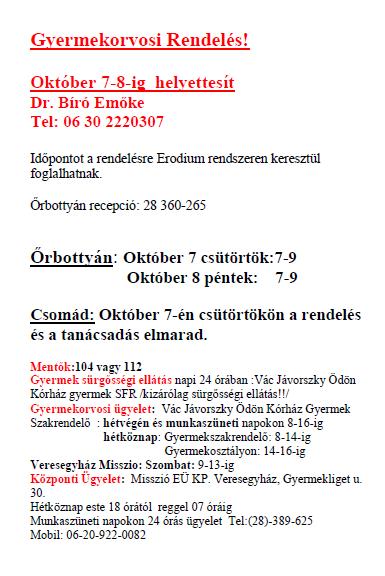 Dr Kicsiny Emese helyettesítés Dr Bíró Emőke 20211007_08